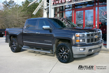 Chevrolet Silverado with 20in Fuel Throttle Wheels