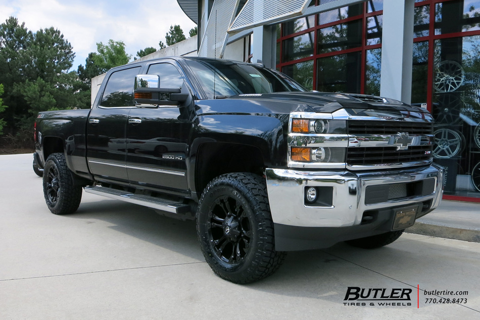 Chevrolet Silverado with 20in Fuel Vapor Wheels exclusively from Butler Tires and Wheels in ...