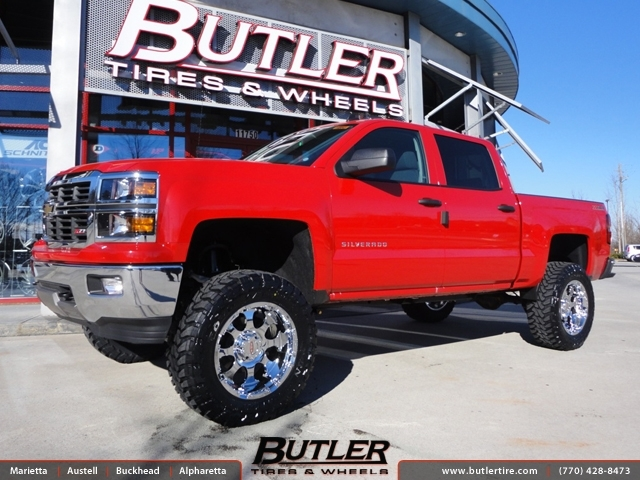 Chevrolet Silverado with 20in Moto Metal 955 Wheels