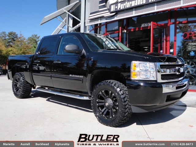 Chevrolet Silverado with 20in XD Monster Wheels exclusively from Butler Tires and Wheels in ...