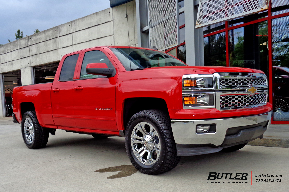 Chevrolet Silverado with 20in XD Monster Wheels