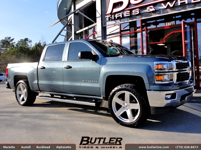 Chevrolet Silverado with 22in Black Rhino Everest Wheels