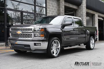 Chevrolet Silverado with 22in Black Rhino Katavi Wheels