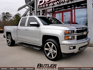 Chevrolet Silverado with 22in Black Rhino Peak Wheels