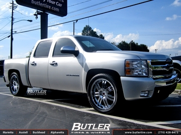 Chevrolet Silverado with 22in Black Rhino Serengeti Wheels