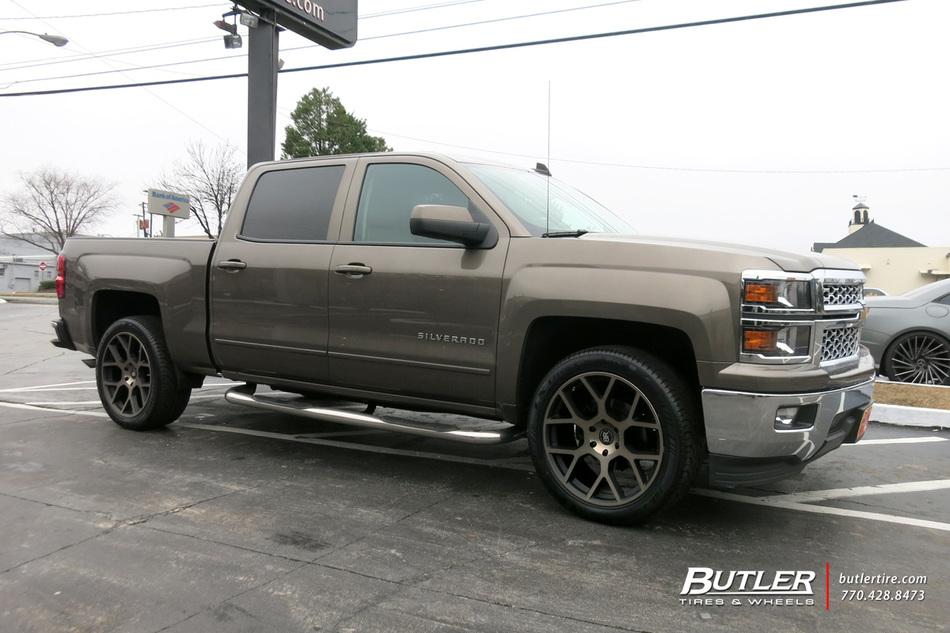 Chevrolet Silverado With In Black Rhino Tembe Wheels Large