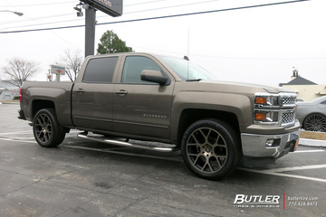 Chevrolet Silverado with 22in Black Rhino Tembe Wheels