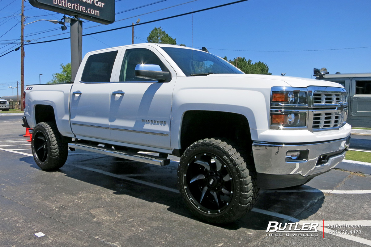 Grid Gd1 Wheels >> Chevrolet Silverado with 22in Grid Offroad GD1 Wheels exclusively from Butler Tires and Wheels ...