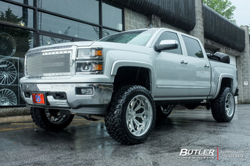 Chevrolet Silverado with 22in Grid Offroad GF3 Wheels