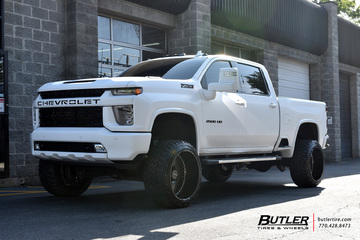 Chevrolet Silverado with 24in Black Rhino Horus Wheels