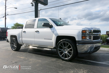 Chevrolet Silverado with 24in Black Rhino Mala Wheels