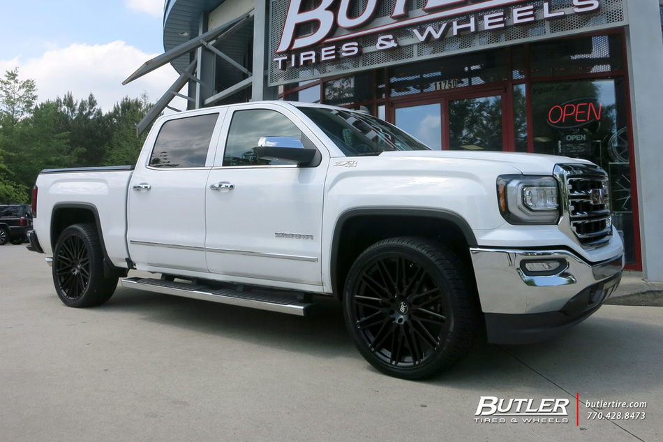Chevrolet Silverado With 24in Black Rhino Zulu Wheels Exclusively From Butler Tires And Wheels