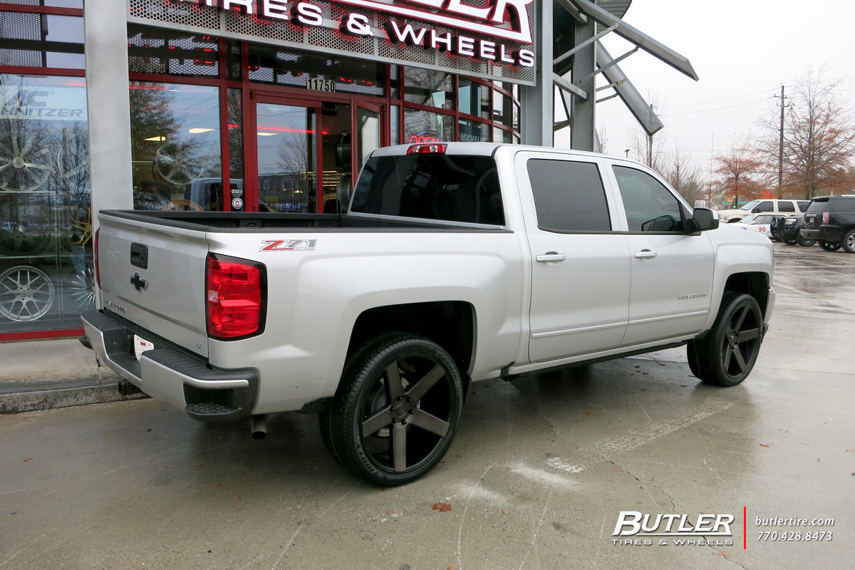 Chevrolet Silverado with 24in DUB Baller Wheels