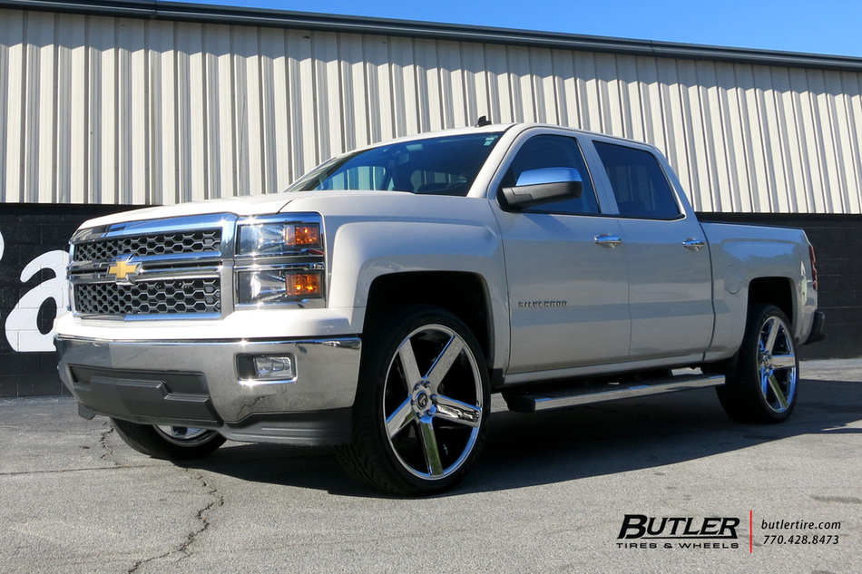 Chevrolet Silverado with 24in DUB Baller Wheels ...