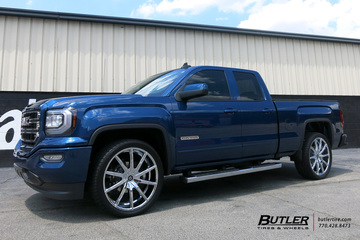 Chevrolet Silverado with 24in Lexani CSS15 Wheels