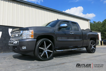 Chevrolet Silverado with 24in Lexani R-Six Wheels