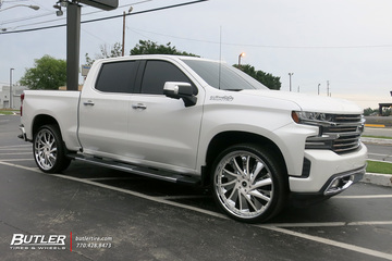 Chevrolet Silverado with 24in Savini Diamond Solaro Wheels