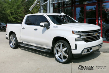 Chevrolet Silverado with 26in Forgiato F2.20 DL Wheels