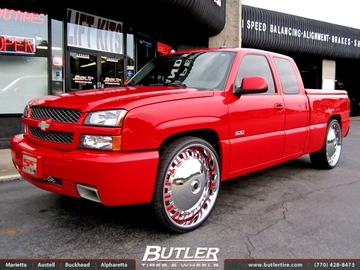 Chevrolet Silverado with 28in DUB Opera Wheels