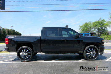 Chevrolet Silverado with 28in Lexani LSS10 Wheels