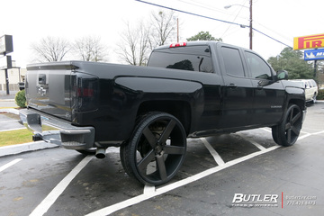 Chevrolet Silverado with 30in DUB Baller Wheels
