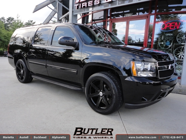 Chevrolet Suburban with 22in Black Rhino Peak Wheels