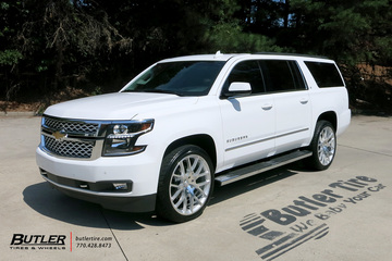 Chevrolet Suburban with 24in Black Rhino Kunene Wheels