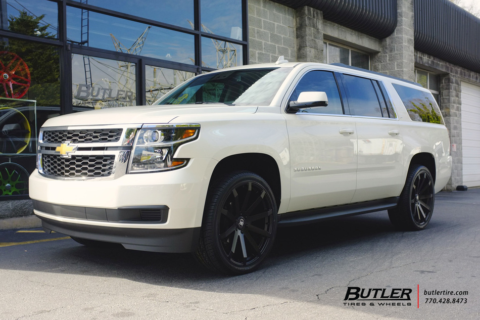 chevrolet suburban with 24in black rhino traverse wheels. Black Bedroom Furniture Sets. Home Design Ideas