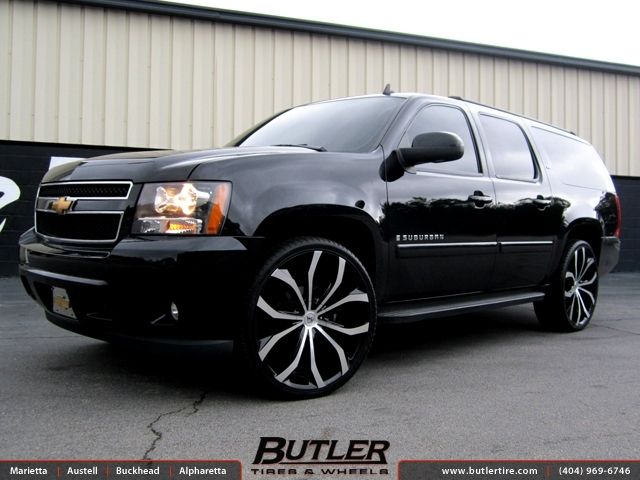 Chevrolet Suburban with 26in Lexani Lust Wheels