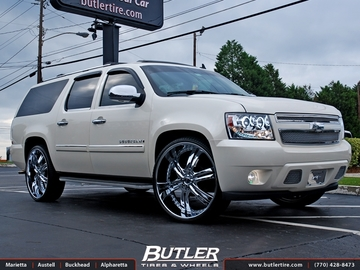 Chevrolet Suburban with 28in Dub Phase 6 Wheels