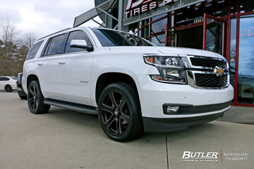 Chevrolet Tahoe with 22in Black Rhino Haka Wheels