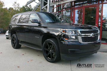 Chevrolet Tahoe with 22in Black Rhino Karoo Wheels