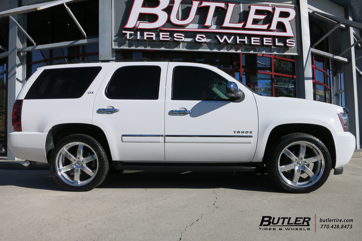 Chevrolet Tahoe with 22in Black Rhino Pondora Wheels exclusively from Butler Tires and Wheels in ...