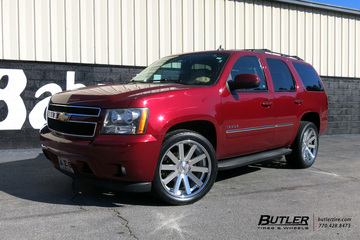 Chevrolet Tahoe with 22in Black Rhino Savannah Wheels