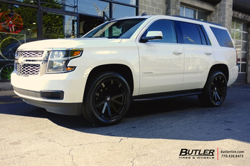 Chevrolet Tahoe with 22in Black Rhino Traverse Wheels