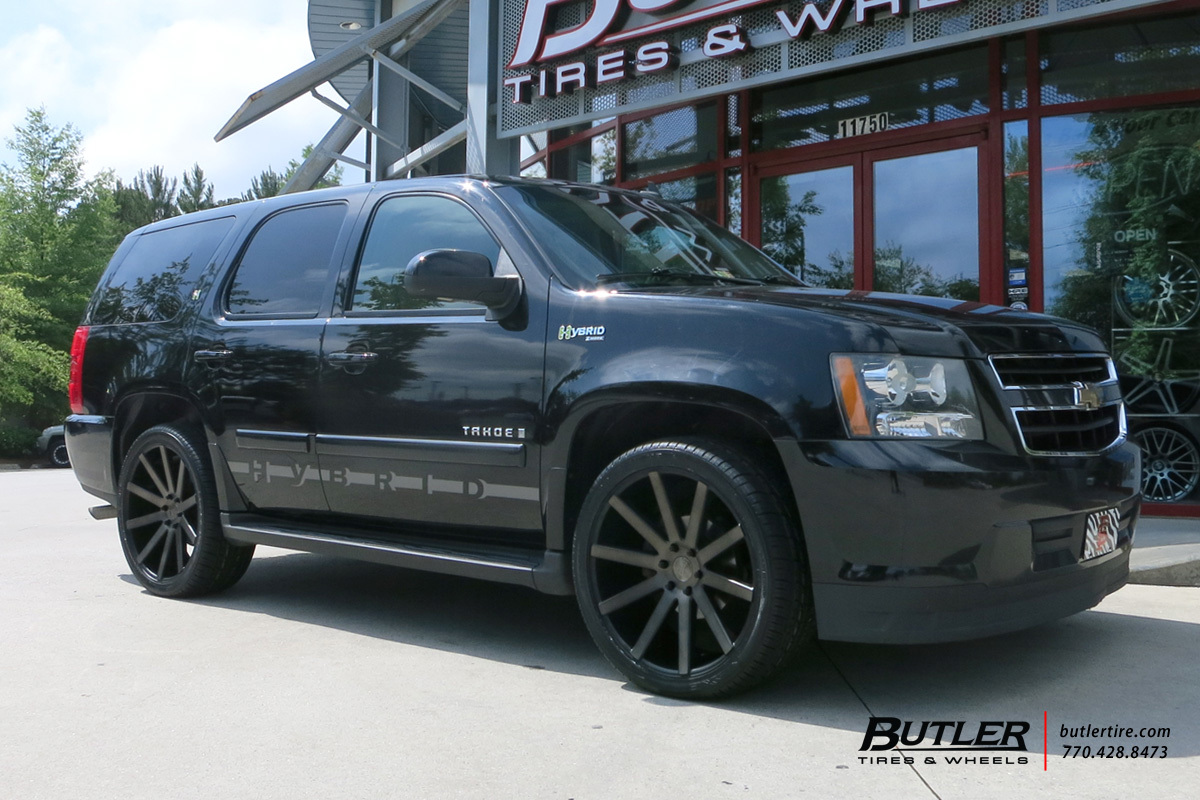 Chevrolet Tahoe with 22in DUB Shot Calla Wheels ...