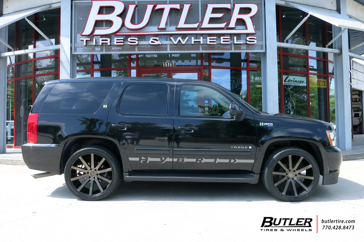 Chevrolet Tahoe with 22in DUB Shot Calla Wheels