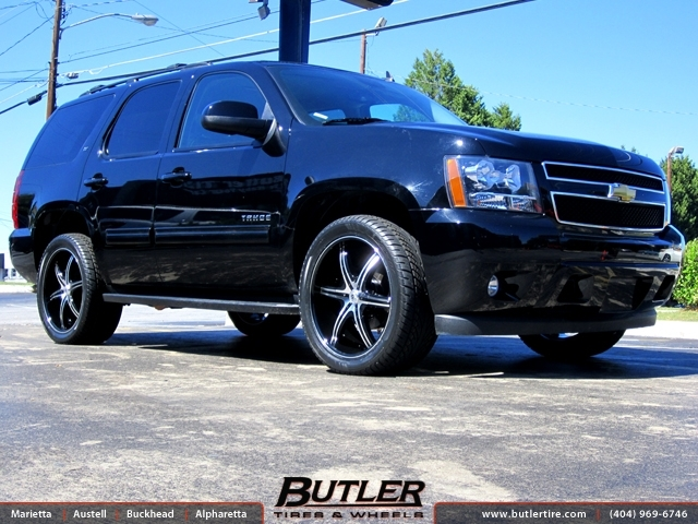 Chevrolet Tahoe with 22in Lexani LX 6 Wheels