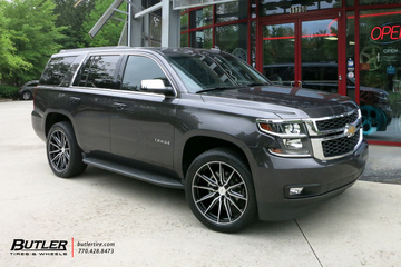 Chevrolet Tahoe with 22in Vossen HF-6 Wheels
