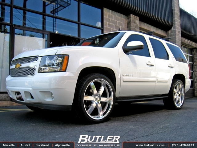 Chevrolet Tahoe with 24in Black Rhino Pondora Wheels