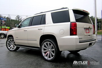Chevrolet Tahoe with 24in Black Rhino Traverse Wheels
