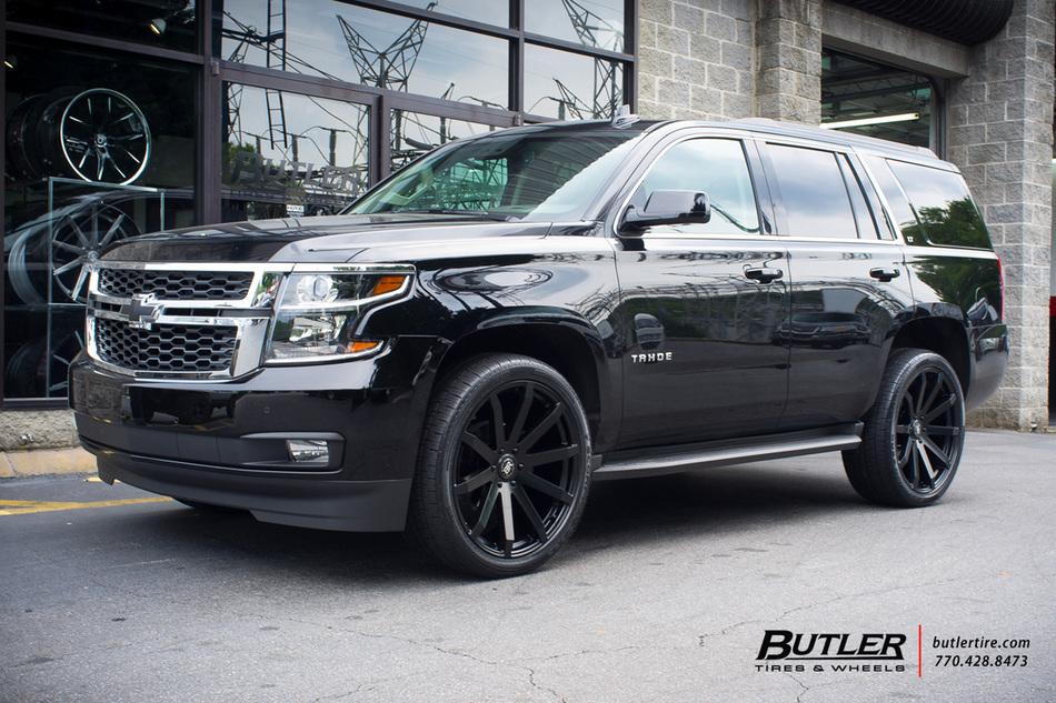 Chevrolet Tahoe With 24in Black Rhino Traverse Wheels