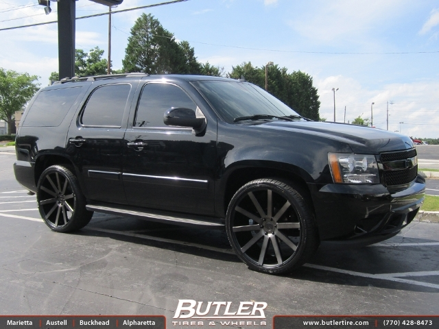 Chevrolet Tahoe with 24in Dub Shot Calla Wheels
