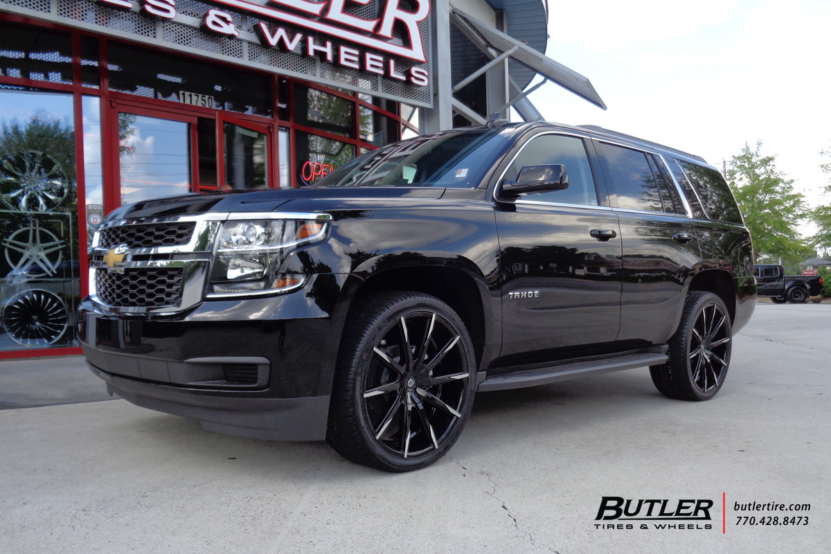 Chevrolet Tahoe With 24in Lexani Css15 Wheels Exclusively