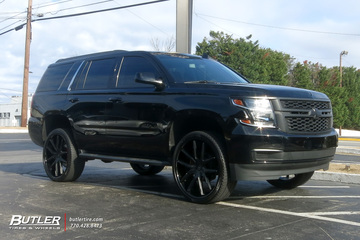 Chevrolet Tahoe with 26in Lexani R-Twelve Wheels