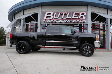 Chevy 3500HD Dually with 22in XD Battalion Wheels