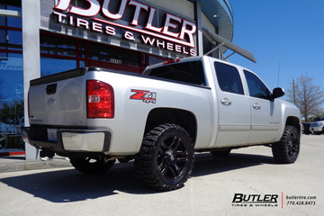 Chevy Silverado with 20in Fuel Pump Wheels