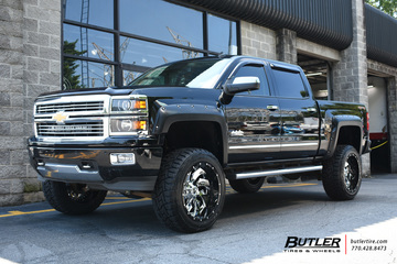 Chevy Silverado with 22in Fuel Cleaver Wheels
