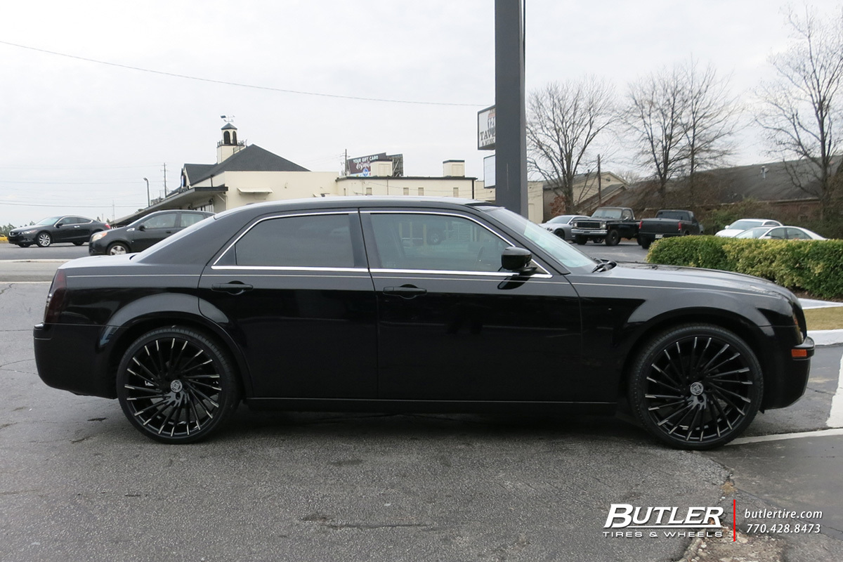 Chrysler 300 with 22in Lexani Wraith Wheels
