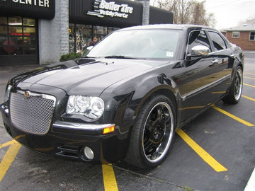 Chrysler 300C with 22in Axis Orden Black Wheels